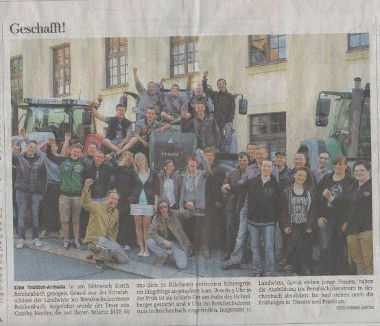 """Zeitungsauschnitt """"Geschafft!"""""""